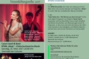KLANGFARBEN 2017 >> Konzert mit Canan Uzerli & Band sowie BTMK Ensemble